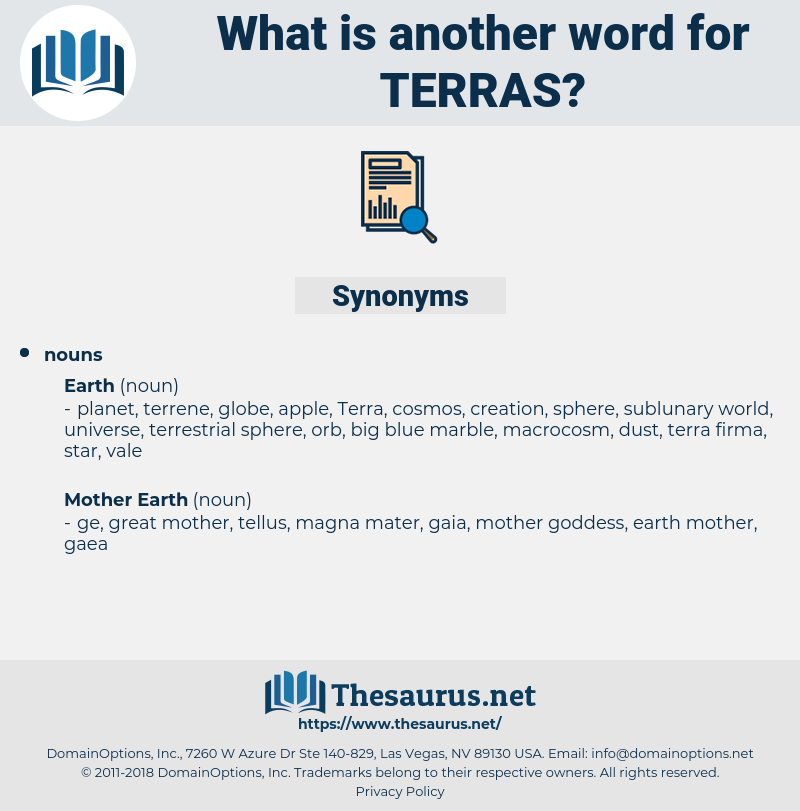 Terras, synonym Terras, another word for Terras, words like Terras, thesaurus Terras