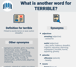 terrible, synonym terrible, another word for terrible, words like terrible, thesaurus terrible