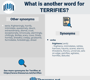 terrifies, synonym terrifies, another word for terrifies, words like terrifies, thesaurus terrifies