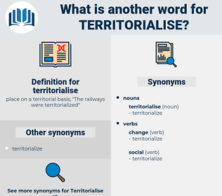 territorialise, synonym territorialise, another word for territorialise, words like territorialise, thesaurus territorialise
