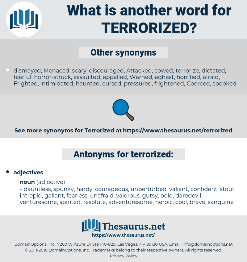 terrorized, synonym terrorized, another word for terrorized, words like terrorized, thesaurus terrorized