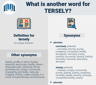 tersely, synonym tersely, another word for tersely, words like tersely, thesaurus tersely