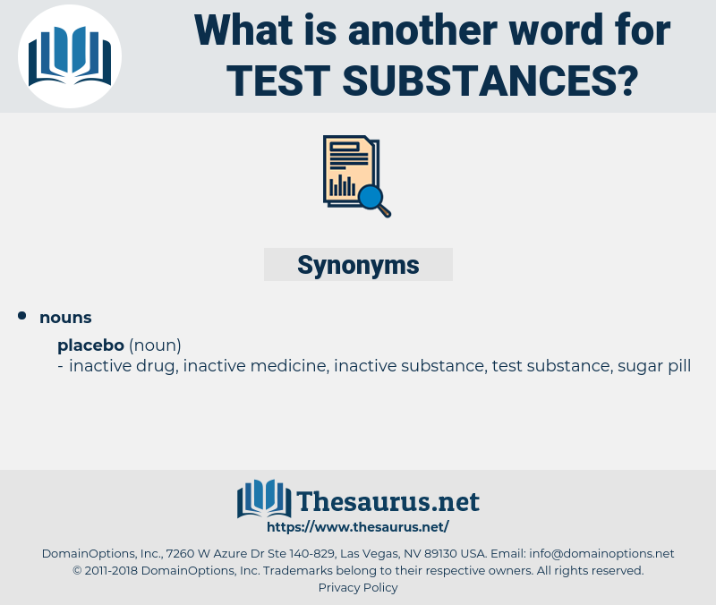 test substances, synonym test substances, another word for test substances, words like test substances, thesaurus test substances