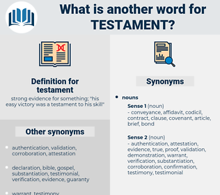 testament, synonym testament, another word for testament, words like testament, thesaurus testament