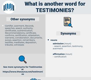 Testimonies, synonym Testimonies, another word for Testimonies, words like Testimonies, thesaurus Testimonies