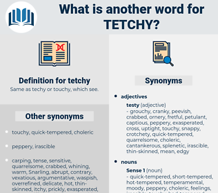 tetchy, synonym tetchy, another word for tetchy, words like tetchy, thesaurus tetchy