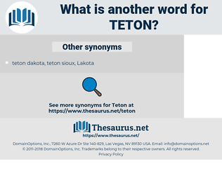 TETON, synonym TETON, another word for TETON, words like TETON, thesaurus TETON