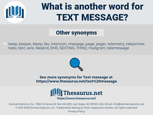 text message, synonym text message, another word for text message, words like text message, thesaurus text message