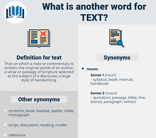 text, synonym text, another word for text, words like text, thesaurus text