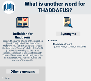 thaddaeus, synonym thaddaeus, another word for thaddaeus, words like thaddaeus, thesaurus thaddaeus