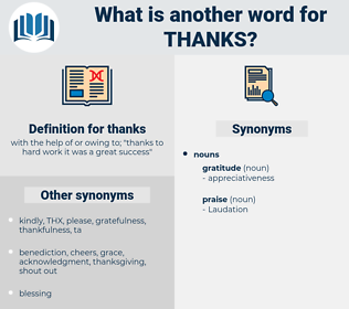 thanks, synonym thanks, another word for thanks, words like thanks, thesaurus thanks