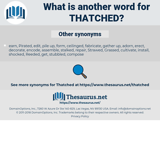 Thatched, synonym Thatched, another word for Thatched, words like Thatched, thesaurus Thatched