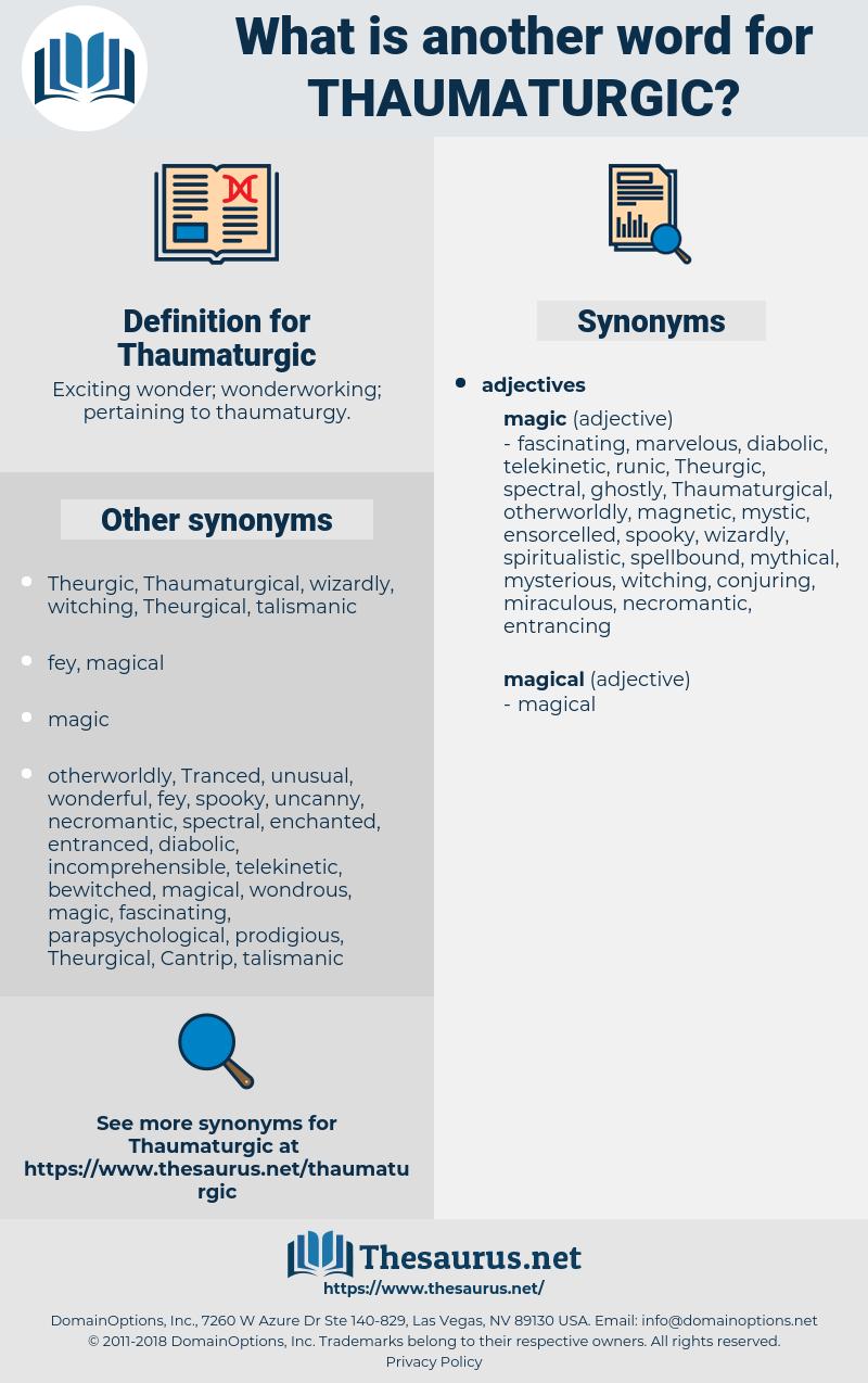 Thaumaturgic, synonym Thaumaturgic, another word for Thaumaturgic, words like Thaumaturgic, thesaurus Thaumaturgic