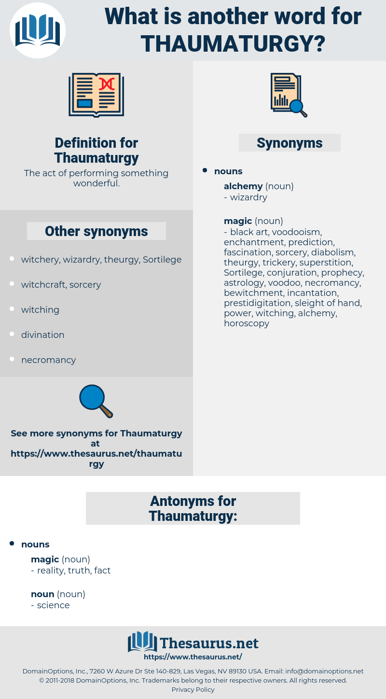 Thaumaturgy, synonym Thaumaturgy, another word for Thaumaturgy, words like Thaumaturgy, thesaurus Thaumaturgy