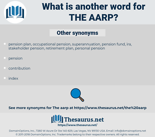 the AARP, synonym the AARP, another word for the AARP, words like the AARP, thesaurus the AARP