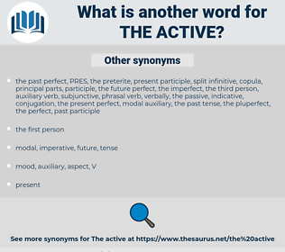 the active, synonym the active, another word for the active, words like the active, thesaurus the active
