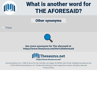 the aforesaid, synonym the aforesaid, another word for the aforesaid, words like the aforesaid, thesaurus the aforesaid