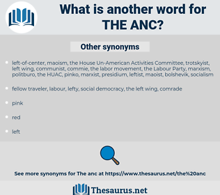 the ANC, synonym the ANC, another word for the ANC, words like the ANC, thesaurus the ANC