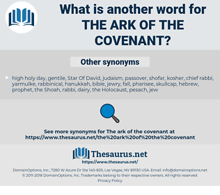 the Ark of the Covenant, synonym the Ark of the Covenant, another word for the Ark of the Covenant, words like the Ark of the Covenant, thesaurus the Ark of the Covenant
