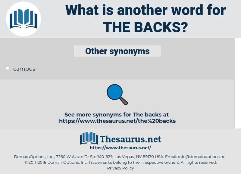 the backs, synonym the backs, another word for the backs, words like the backs, thesaurus the backs