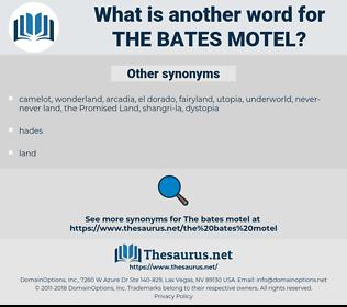 the Bates Motel, synonym the Bates Motel, another word for the Bates Motel, words like the Bates Motel, thesaurus the Bates Motel