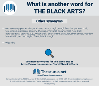 the black arts, synonym the black arts, another word for the black arts, words like the black arts, thesaurus the black arts
