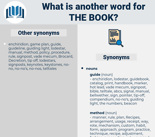 the book, synonym the book, another word for the book, words like the book, thesaurus the book