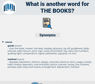 the books, synonym the books, another word for the books, words like the books, thesaurus the books