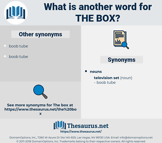 the box, synonym the box, another word for the box, words like the box, thesaurus the box