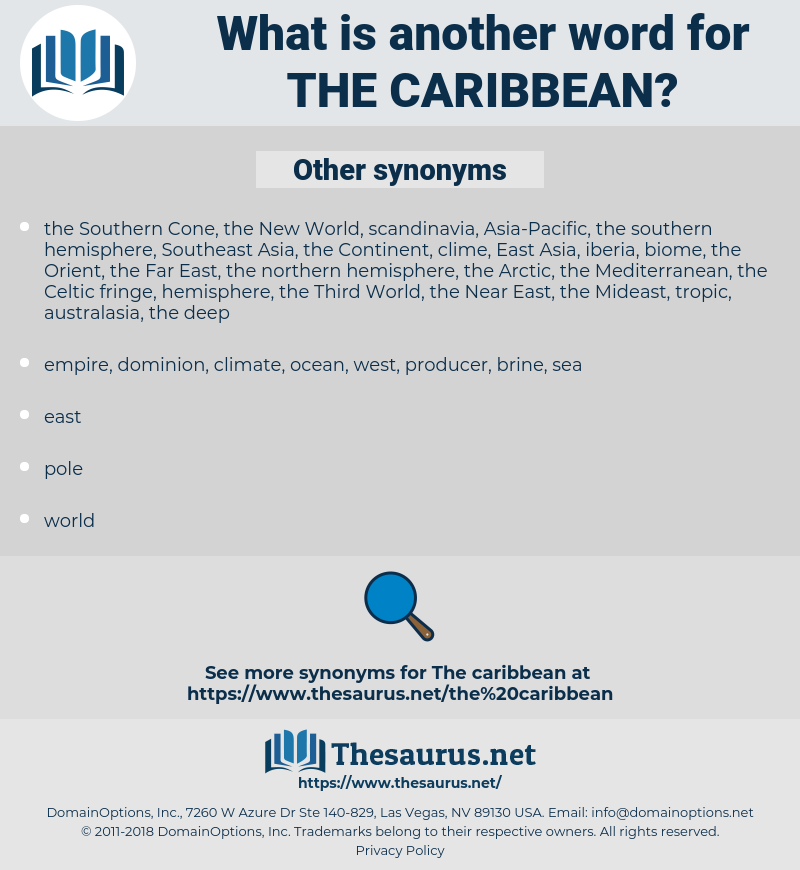 the Caribbean, synonym the Caribbean, another word for the Caribbean, words like the Caribbean, thesaurus the Caribbean