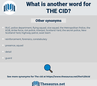 the CID, synonym the CID, another word for the CID, words like the CID, thesaurus the CID