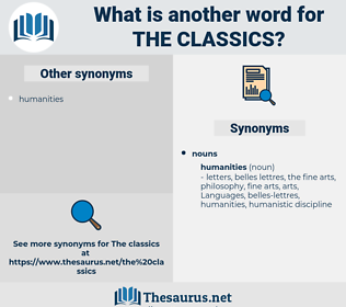 the classics, synonym the classics, another word for the classics, words like the classics, thesaurus the classics