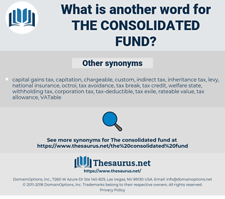 the Consolidated Fund, synonym the Consolidated Fund, another word for the Consolidated Fund, words like the Consolidated Fund, thesaurus the Consolidated Fund