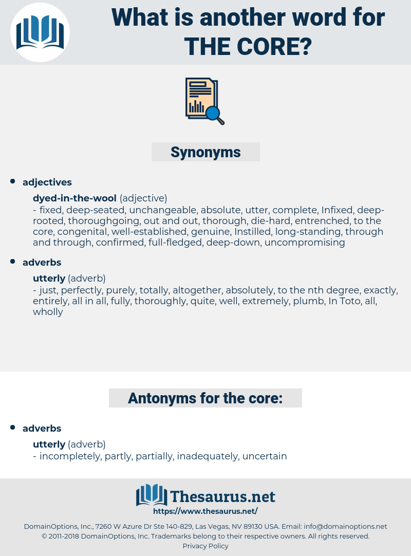 the core, synonym the core, another word for the core, words like the core, thesaurus the core