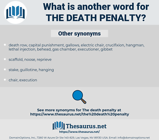 the death penalty, synonym the death penalty, another word for the death penalty, words like the death penalty, thesaurus the death penalty