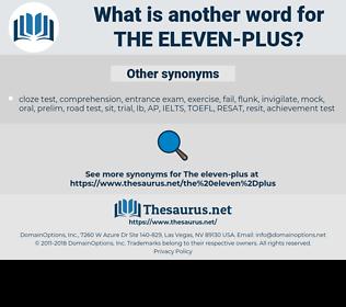 the eleven-plus, synonym the eleven-plus, another word for the eleven-plus, words like the eleven-plus, thesaurus the eleven-plus