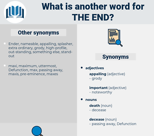 the end, synonym the end, another word for the end, words like the end, thesaurus the end