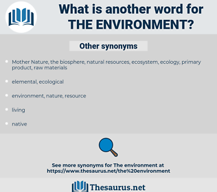 the environment, synonym the environment, another word for the environment, words like the environment, thesaurus the environment