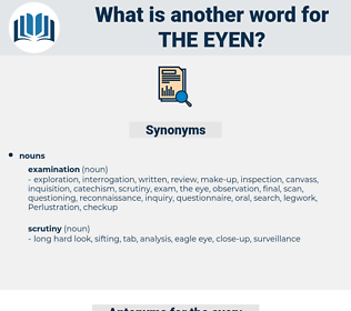 the eyen, synonym the eyen, another word for the eyen, words like the eyen, thesaurus the eyen