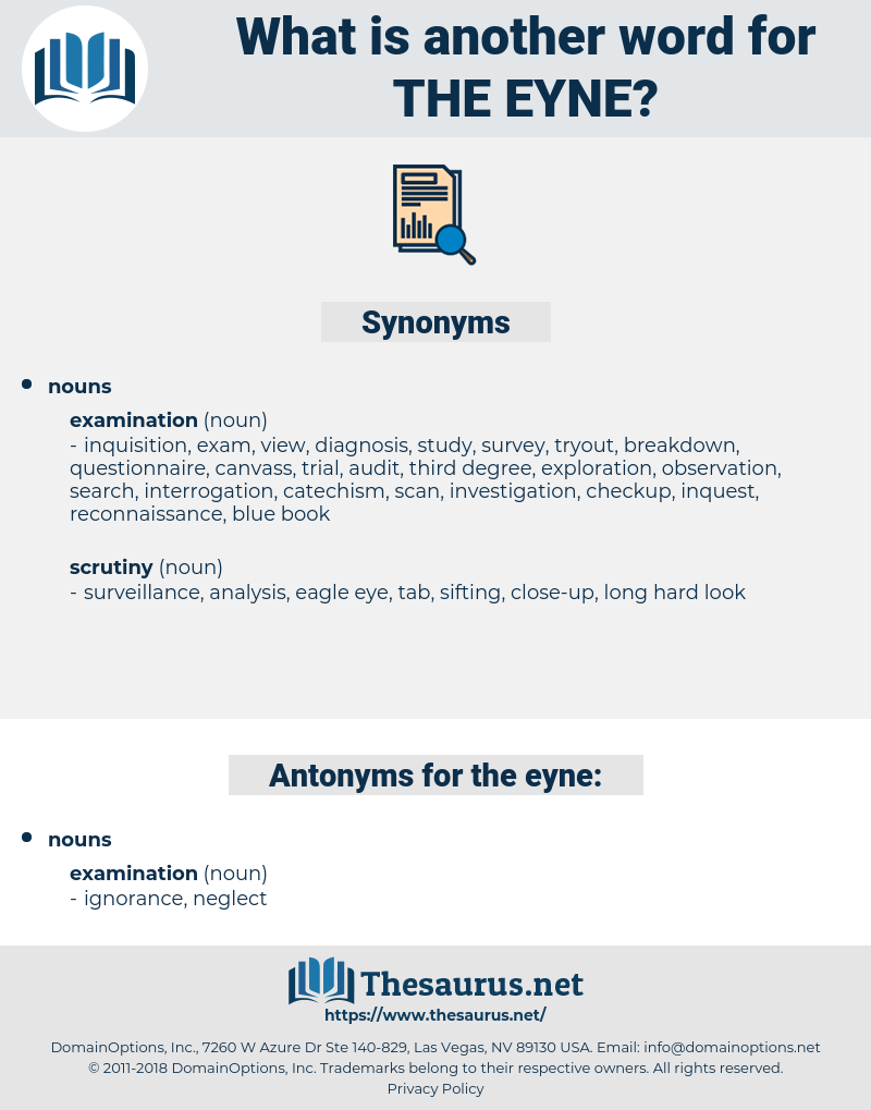 the eyne, synonym the eyne, another word for the eyne, words like the eyne, thesaurus the eyne
