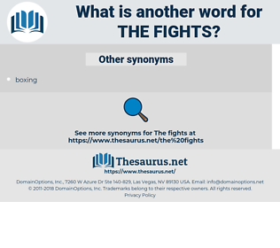 the fights, synonym the fights, another word for the fights, words like the fights, thesaurus the fights