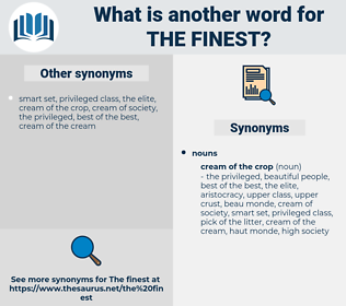 the finest, synonym the finest, another word for the finest, words like the finest, thesaurus the finest