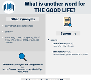 the good life, synonym the good life, another word for the good life, words like the good life, thesaurus the good life
