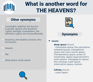 the heavens, synonym the heavens, another word for the heavens, words like the heavens, thesaurus the heavens