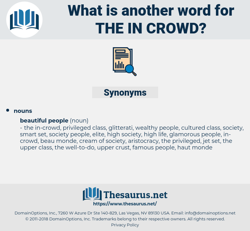 the in-crowd, synonym the in-crowd, another word for the in-crowd, words like the in-crowd, thesaurus the in-crowd