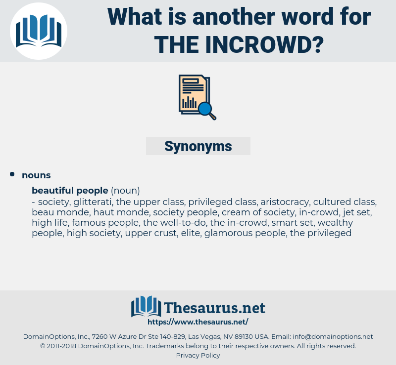 the incrowd, synonym the incrowd, another word for the incrowd, words like the incrowd, thesaurus the incrowd