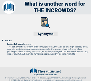the incrowds, synonym the incrowds, another word for the incrowds, words like the incrowds, thesaurus the incrowds