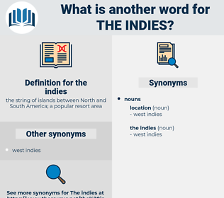 the indies, synonym the indies, another word for the indies, words like the indies, thesaurus the indies