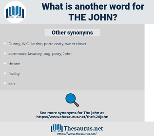 the john, synonym the john, another word for the john, words like the john, thesaurus the john