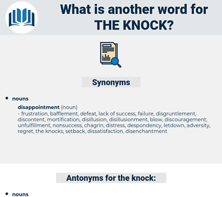 the knock, synonym the knock, another word for the knock, words like the knock, thesaurus the knock